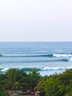 I came over that last hill for the very first time, and saw a perfect set rolling in. One of those moments that remind you, why you take all those planes and long bus rides…  thefreesurfer.com