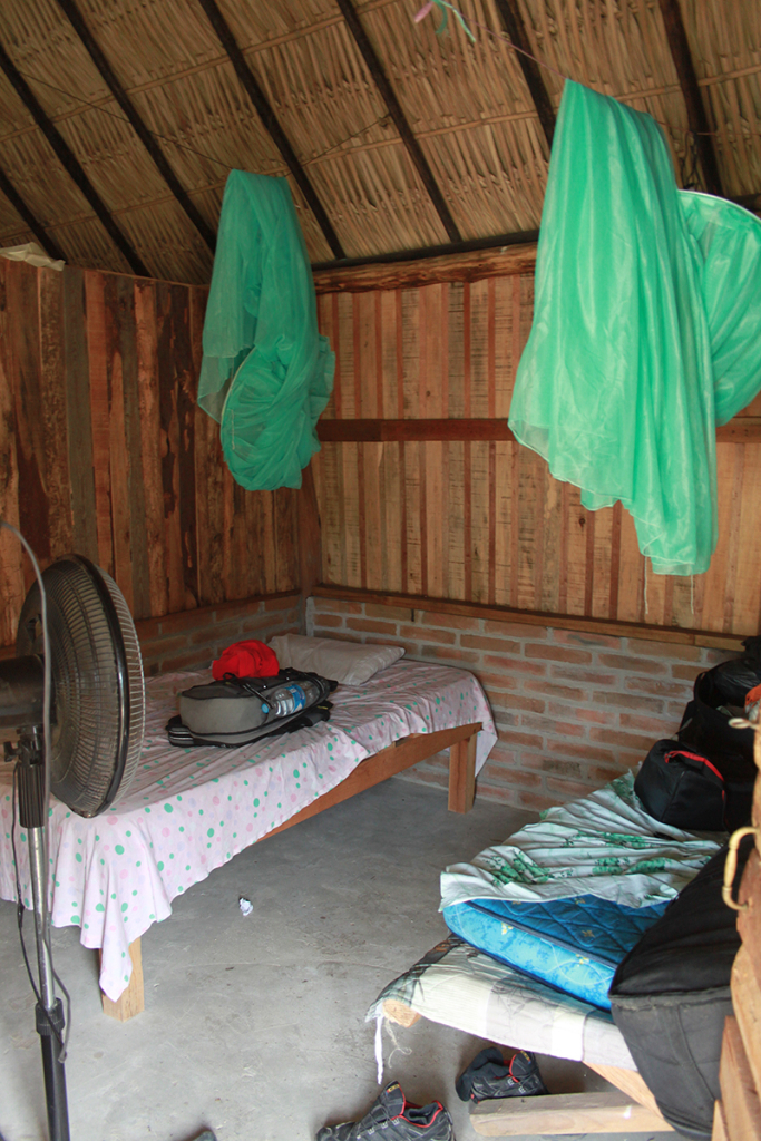 Life there was sweet and simple. Perfect waves all day long, and everything you need at night: Mosquito net, a bottle of water, plus a ventilator that worked during the hours with no power cut. thefreesurfer.com