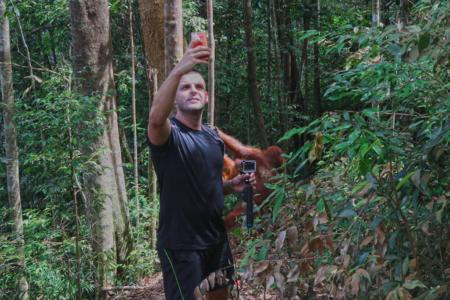 Bukit Lawang jungle trek thefreesurfer.com orangutan mina stupid tourist