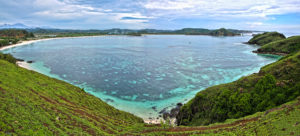Tanjung Aan Bay, South Lombok. Some of the best waves during winter in indonesia
