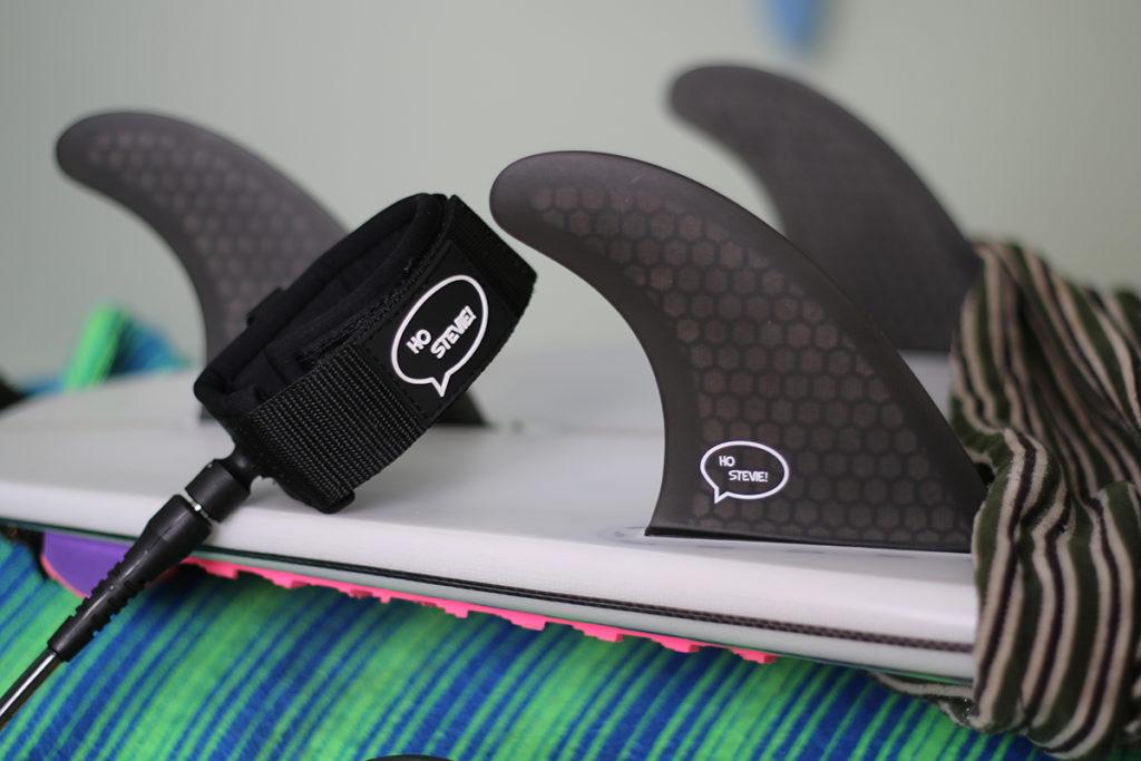 ho steve fins, leash, tail pad, socks review
