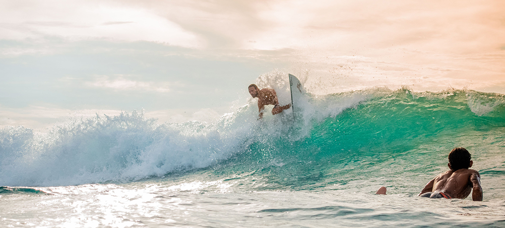pascal christen surfing Bali, surf travel